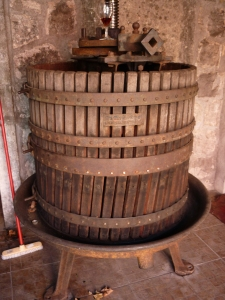 Traditonal Dalmatian grape press (photo: Cliff Rames)