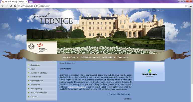 Czech ice wine venue_Lednice screen shot