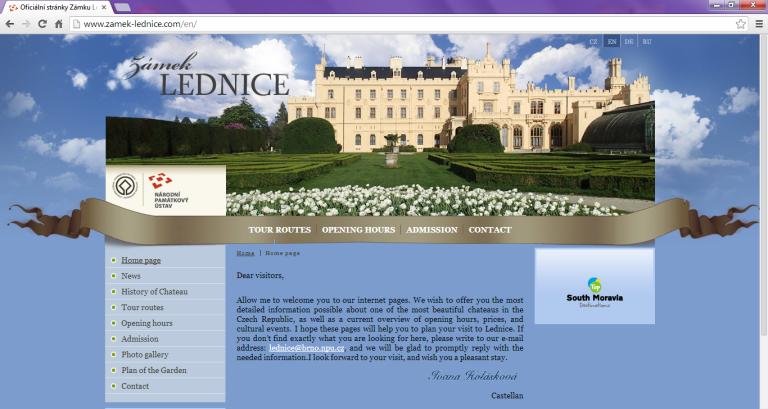 Czech ice wine venue_Lednice screen shot