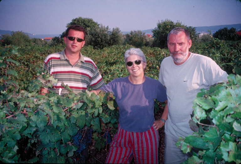 Maletic, Meredith and Pejic in Croatia (Photo courtesy of Carole Meredith)